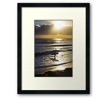 Moffat Beach sunrise Framed Print