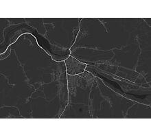 Zilina, Slovakia Map. (White on black) Photographic Print