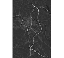 Maribor, Slovenia Map. (White on black) Photographic Print