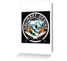 Skull Chef 8: Culinary Genius 2 Greeting Card