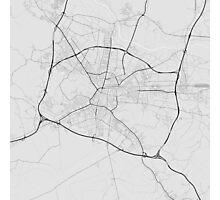 Ljubljana, Slovenia Map. (Black on white) Photographic Print