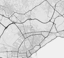 Alicante, Spain Map. (Black on white) Sticker