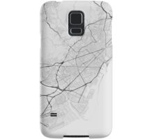Barcelona, Spain Map. (Black on white) Samsung Galaxy Case/Skin
