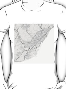 Barcelona, Spain Map. (Black on white) T-Shirt