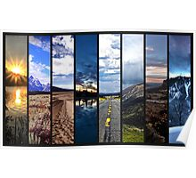 Nature-Panorama Collage Poster