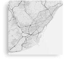 Barcelona, Spain Map. (Black on white) Metal Print