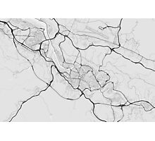 Bilbao, Spain Map. (Black on white) Photographic Print