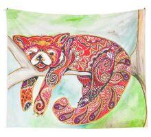 Sleepy red panda  Wall Tapestry