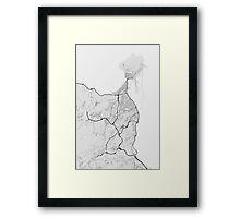 Las Palma, Spain Map. (Black on white) Framed Print