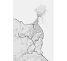 Las Palma, Spain Map. (Black on white) Photographic Print