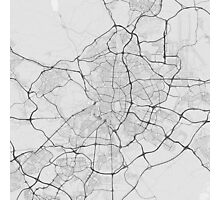 Madrid, Spain Map. (Black on white) Photographic Print