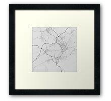 Murcia, Spain Map. (Black on white) Framed Print