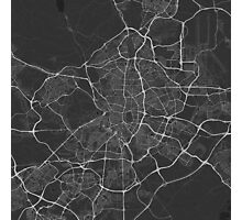 Madrid, Spain Map. (White on black) Photographic Print