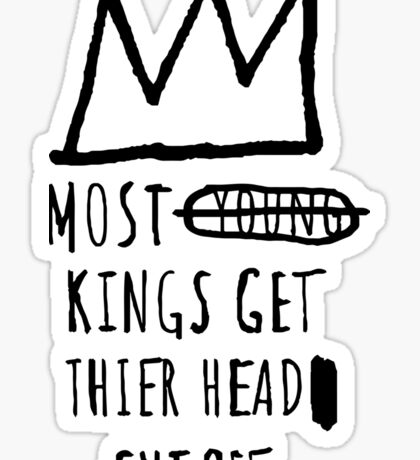 "Basquiat ""Young Kings"" Quote Sticker"