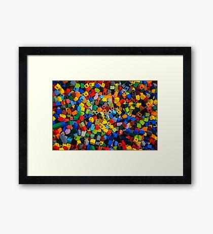 Dreaming in Legos Framed Print