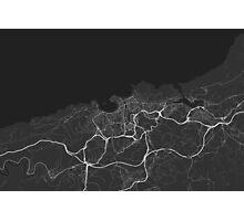 San Sebastian, Spain Map. (White on black) Photographic Print