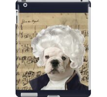 Mozart and Marie The Admiral Bulldog Composer iPad Case/Skin