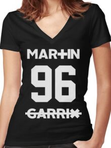 martin Garrix 96  Women's Fitted V-Neck T-Shirt