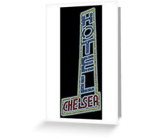 Hotel Chelsea Legends Typography Greeting Card