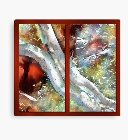 Gum Tree Pilbara Abstract Diptych Canvas Print