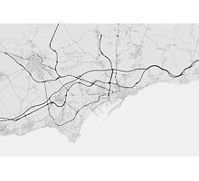 Tarragona, Spain Map. (Black on white) Photographic Print