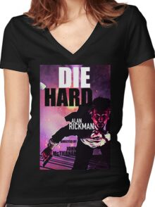 DIE HARD 6 Women's Fitted V-Neck T-Shirt