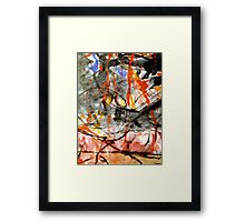 own blood everywhere at his feet.... Framed Print