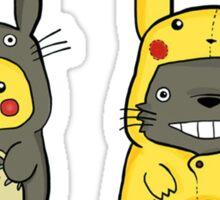Totoro and Pika Cutes Sticker