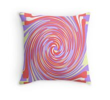 Psychedelic Pink Throw Pillow