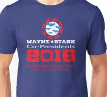 Wayne and Stark for President Unisex T-Shirt