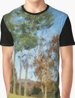 Tall Trees Against A Blue Sky Graphic T-Shirt