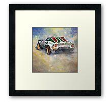 Lancia Stratos 1976 Rallye Sanremo Framed Print