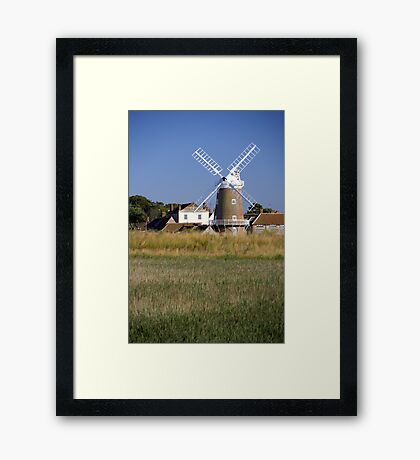Cley Windmill and reedbeds Framed Print