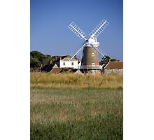 Cley Windmill and reedbeds Photographic Print