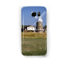 Cley Windmill and reedbeds Samsung Galaxy Case/Skin