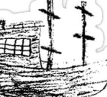Strange Boat Sticker