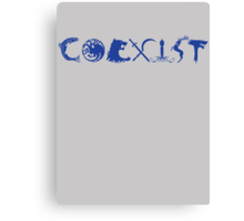 COEXIST- GAME OF THRONES Canvas Print