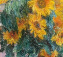 Claude Monet - Bouquet Of Sunflowers Sticker