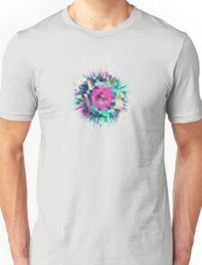 Fruity Rose - Fancy Colorful Abstraction Pattern Design (green pink blue) Unisex T-Shirt