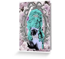 Mozart and Marie Miss Princess Kitty Greeting Card