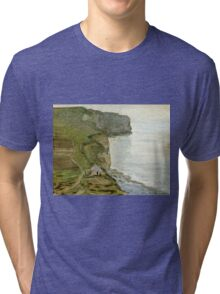Claude Monet - Cape Antifer, Etretat  Tri-blend T-Shirt