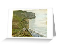 Claude Monet - Cape Antifer, Etretat  Greeting Card