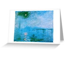 Claude Monet - Charing Cross Bridge Fog on the Thames (1903)  Greeting Card