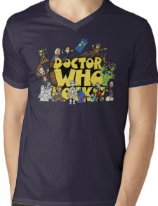Doctor Who Rocks Mens V-Neck T-Shirt