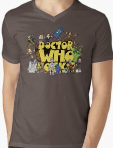 Doctor Who Rocks Mens V-Neck T-Shirt