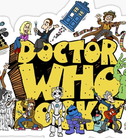 Doctor Who Rocks Sticker