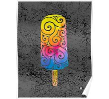 Swirly Popsicle Poster