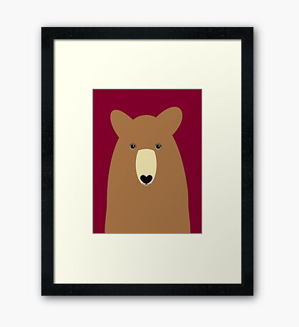 GRIZZLY BEAR PORTRAIT Framed Print
