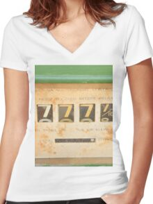 Lucky 7 - Sevens for Everyone - Abstract Art Women's Fitted V-Neck T-Shirt
