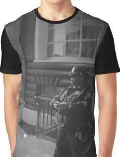 Cop, Texting Graphic T-Shirt